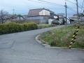 141213鉢伏峠序盤は集落をぐにゃぐにゃ曲がっていく.