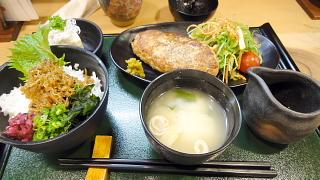 鎌倉バーグとちりめん山椒丼