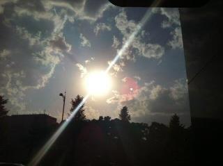 5月の夕陽