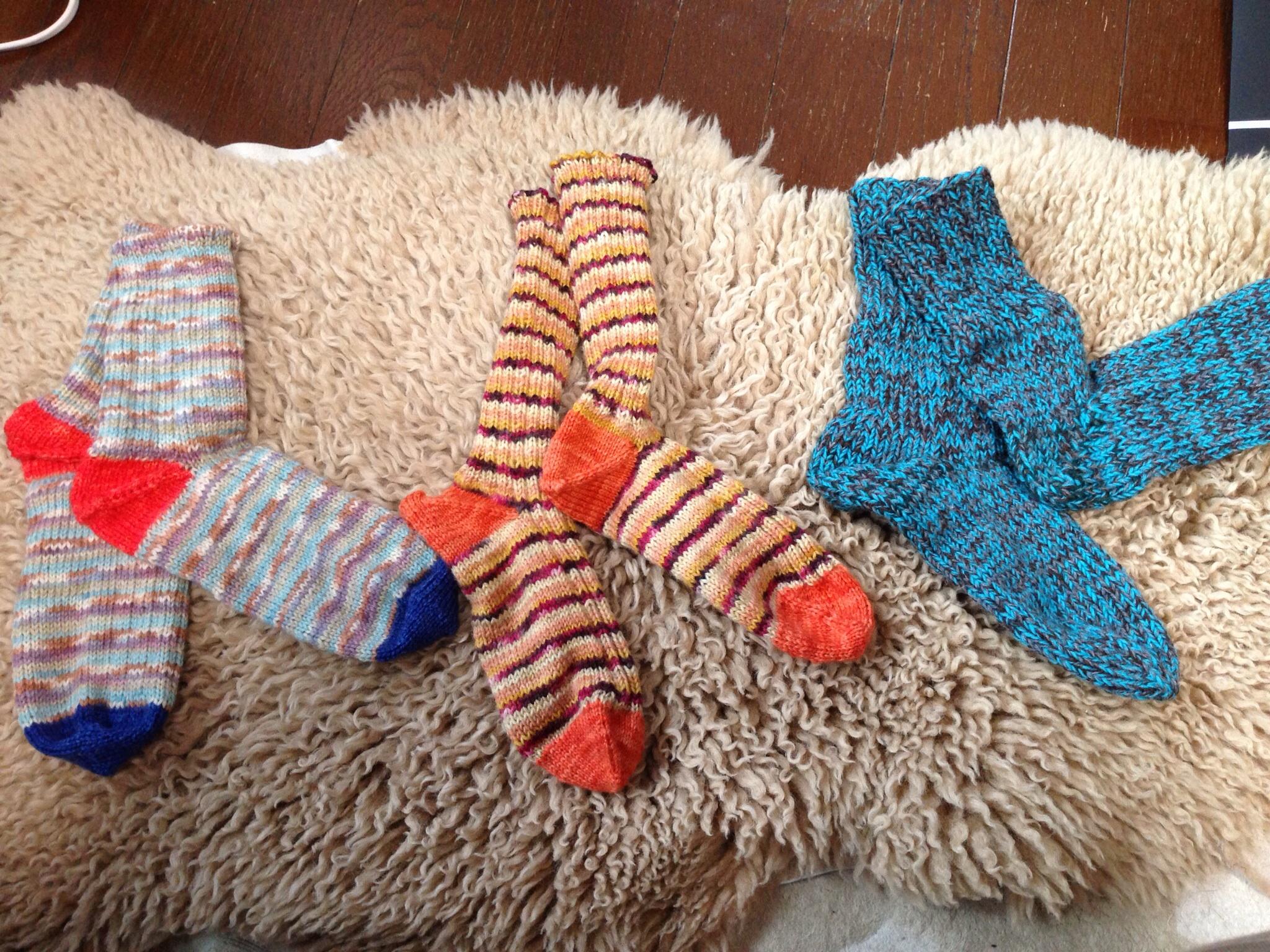 Knitting With Handspun : Knitting with handspun靴下
