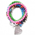 Z100 0 new multi heart bracelet set (2)