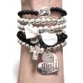 heart bracelet black gold s 2 (1)