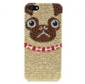 iPhone 5 5S Red Bling Pug Case (2)