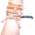 A013 Strawberry Chunky set with gold charms b141 (4)