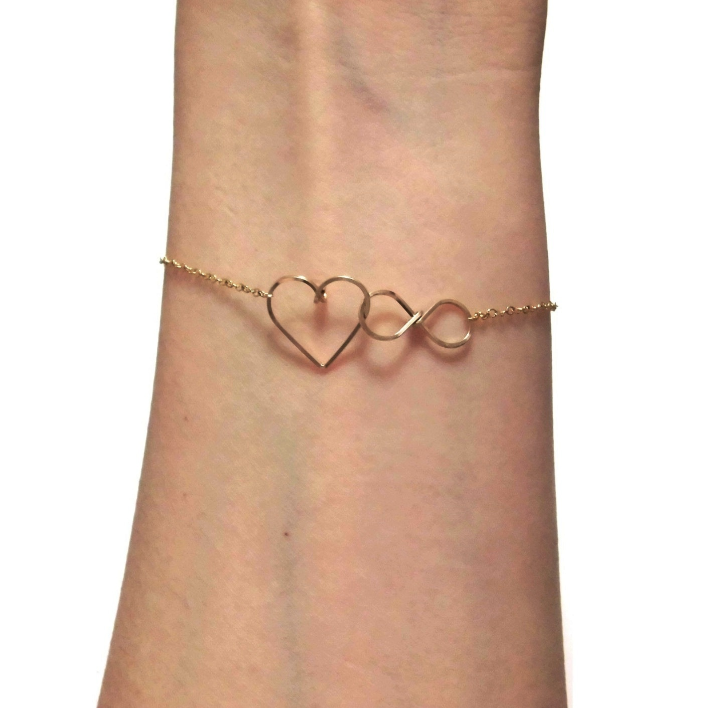 Infinite Love Bracelet - B605 gold (1)