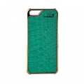 iPhone 5 5s Case Leder Mrs Laguna gold - コピー