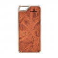 iPhone 5 5S Case leder Karamello braun gold