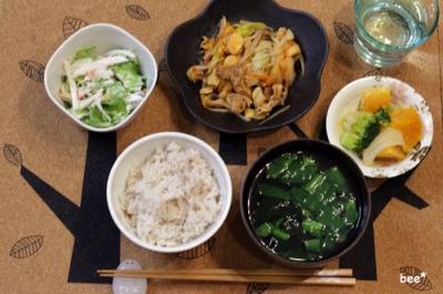 キムチ炒めとカボチャの煮物
