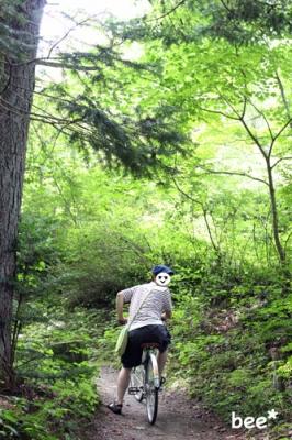 軽井沢でレンタサイクル