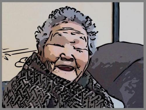 おばあちゃん似顔絵