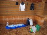 スペース十分な避難小屋