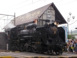 長瀞駅の蒸気機関車