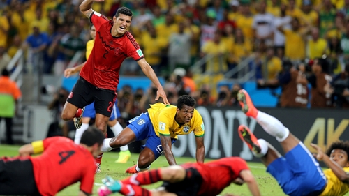 ブラジル対メキシコ戦