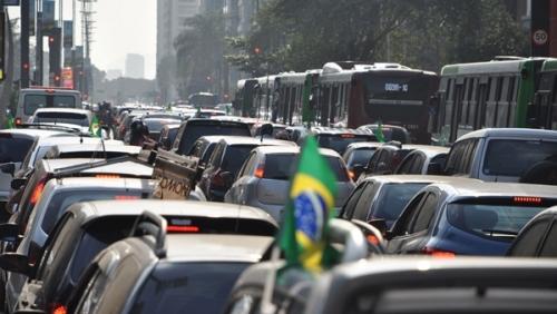 ワールドカップ試合の日の渋滞