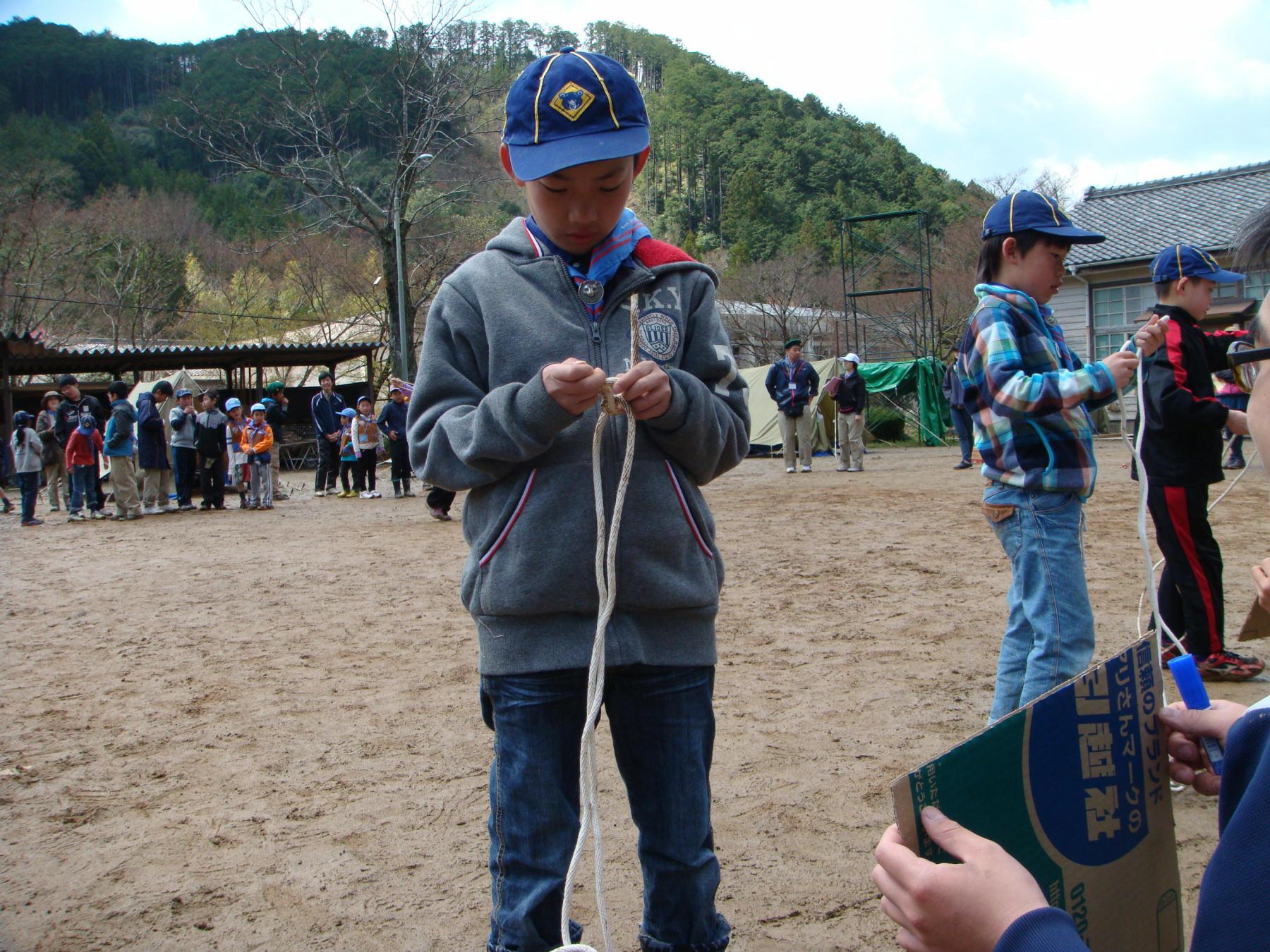 ロープ結びリレー