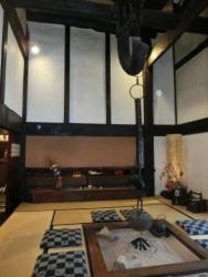 いろりの宿 かつら木の郷 ロビーの囲炉裏