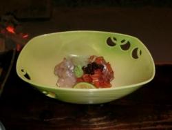 川鱒昆布〆とんぶり和えと川河豚塩麹和え