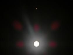 火星と月 2014.4.15. 午前0:38