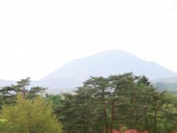 山のレストランのテラスからの眺望