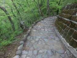 霧降の滝遊歩道
