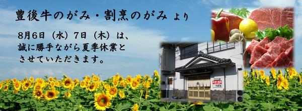 夏季休業2014