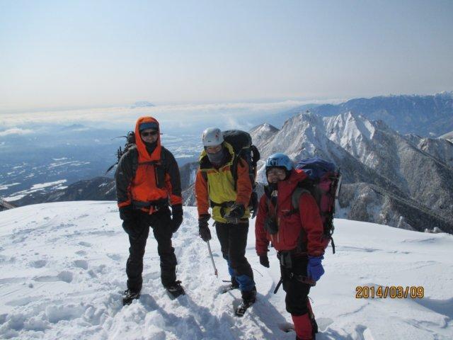H260308-09 阿弥陀岳山頂