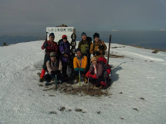 16硫黄岳山頂