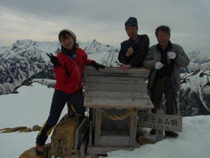 10常念岳山頂2