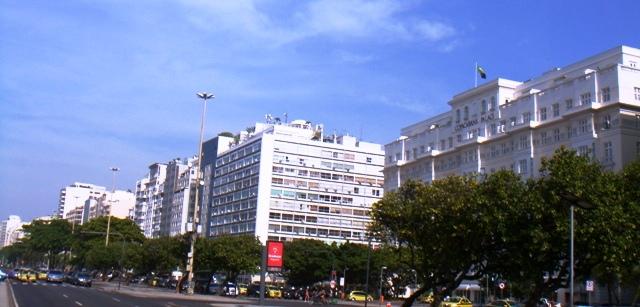現在のコパカバナ ホテル 右端