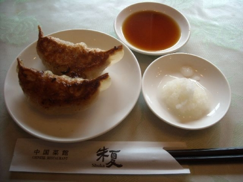 朱夏・マーボー定食 餃子