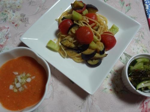 暑い日の夕飯