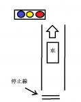 信号機と停止線