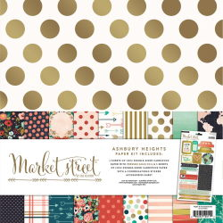 094738 [My Minds Eye] Market Street Paper Accessories Kit 12インチ 1400