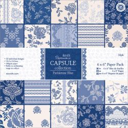 321121 Papermania Parisienne Blue Paper Pack 6インチ 32枚 570