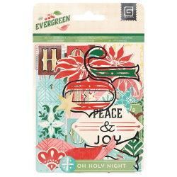 114997 [Basic Grey] Evergreen Cardstock Die-Cuts Transparencies 470 0815
