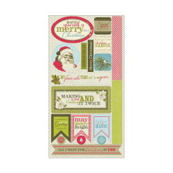 143174 [Authentique Paper] Believe Cardstock ダイカット 6X12 (Components) 310 0801