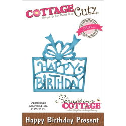 117703 CottageCutz Elites Die (Happy Birthday Present) 880