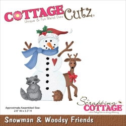 118597 CottageCutz Die 4X4 (Snowman Woodsy Friends) 2120