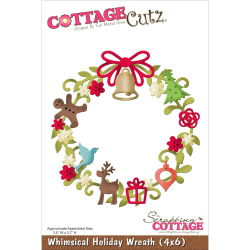 118599 CottageCutz Die 4X6 (Whimsical Holiday Wreath) 2640