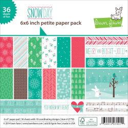 139987 [Lawn Fawn] ペーパーパック6インチ 36枚 (Snow Day) 670 0828