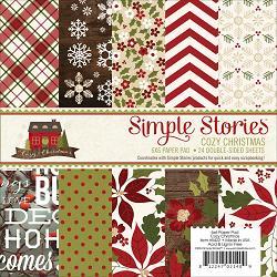 115736 [Simple Stories] 6インチペーパーパッド 24枚 (Cozy Christmas) 670