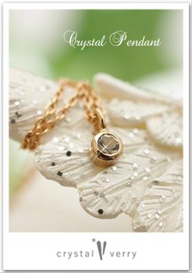 水晶プチネックレス 18金