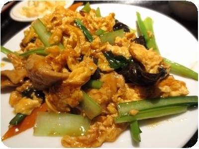 キクラゲ・玉子・豚肉炒め定食