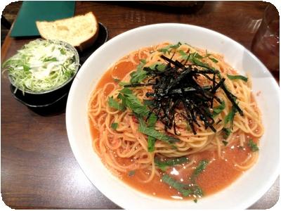 和風バター醤油スープ仕立て明太子と海苔と大葉のトッピング(大盛り)