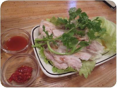 豚バラ肉の冷製 サンバルと香草添え