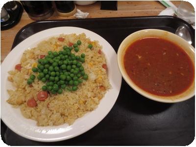 カレー炒飯+チキンカレー
