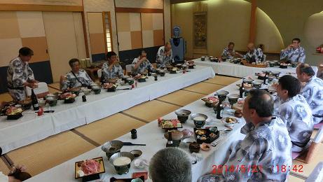 青島での宴会
