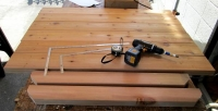 DIY14_4_14 天板と脚材1