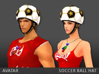 サッカーボールの帽子