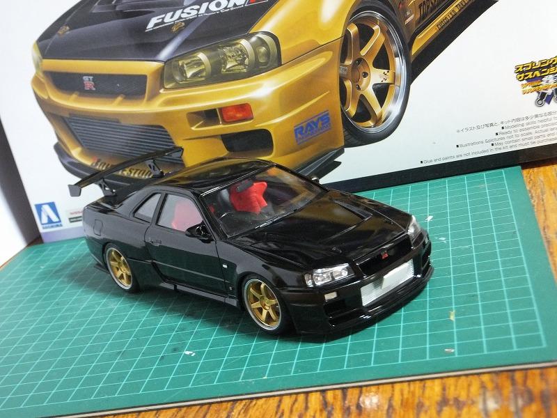 カテゴリー :BNR34 1/24カーモデル TKS Modeling